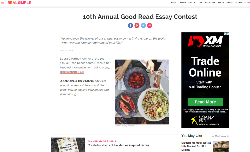 magazine essay contests 2010 True stories told through words, sights, and sounds  recovery essay contest  memoir magazine features artwork, as well as essay,.